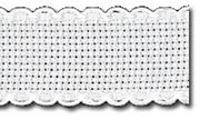 Zweigart Aida Band - 14 count - 1 White/White (7002) Fabric