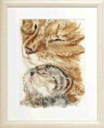 Cat with Kitten - Pako Cross Stitch Kit