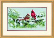 Winter Cardinals - Dimensions Cross Stitch Kit