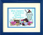 What Happens At Grandmas - Dimensions Cross Stitch Kit