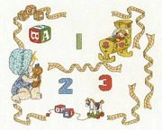 Baby Sampler With Numbers - DMC Cross Stitch Kit