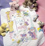 CuteOr What? Baby Quilt - Dimensions Cross Stitch Kit