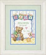 Baby Blocks Birth Record - Dimensions Cross Stitch Kit