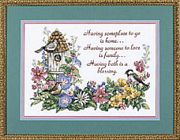 Flowery Verse - Dimensions Cross Stitch Kit