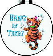 Dimensions Hang in There Cross Stitch Kit