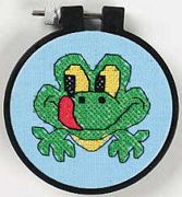 Friendly Frog - Dimensions Cross Stitch Kit
