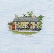 Rose Cottage (Linen) - Derwentwater Designs Cross Stitch Kit