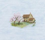 Derwentwater Designs Orchard Cottage (Linen) Cross Stitch Kit