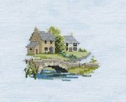 Derwentwater Designs Brookside (Linen) Cross Stitch Kit