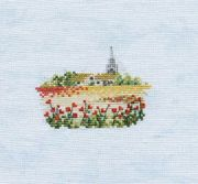 Derwentwater Designs Poppyfield (Linen) Cross Stitch Kit