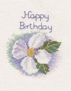 White Clematis - Derwentwater Designs Cross Stitch Kit