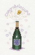 Derwentwater Designs Champagne Wedding Sampler Cross Stitch Kit