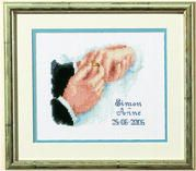 Vervaco Engagement Wedding Sampler Cross Stitch Kit