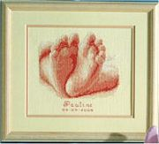 Vervaco Baby Feet Birth Sampler Cross Stitch Kit