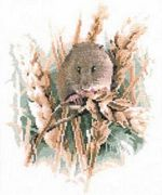 Harvest Mouse - Aida - Heritage Cross Stitch Kit