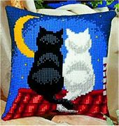 Cats at Night - Vervaco Cross Stitch Kit