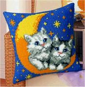 Kittens on Moon - Vervaco Cross Stitch Kit