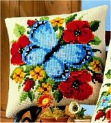 Vervaco Blue Butterfly Cross Stitch Kit