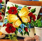 Vervaco Yellow Butterfly Cross Stitch Kit