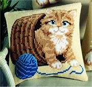 Kitten and Wool - Vervaco Cross Stitch Kit