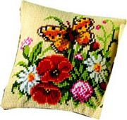 Butterfly and Flowers - Vervaco Cross Stitch Kit