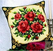 Pale Red Roses - Vervaco Cross Stitch Kit