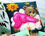 Vervaco Teddy on Cloud Cross Stitch Kit