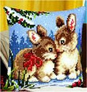 Rabbits Winter Scene - Vervaco Cross Stitch Kit