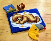 Teddy Sleeping Mat - Vervaco Latch Hook Kit