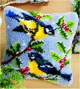 Winter Birds Cushion - Vervaco Latch Hook Kit
