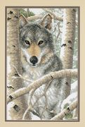 Dimensions Wintry Wolf Cross Stitch Kit