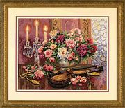 Dimensions Romantic Floral Cross Stitch Kit
