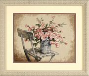 Roses On White Chair - Dimensions Cross Stitch Kit