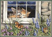 Feline Love - Dimensions Cross Stitch Kit