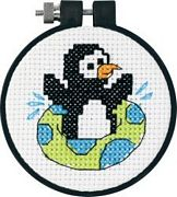 Playful Penguin - Dimensions Cross Stitch Kit