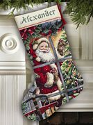 Candy Cane Santa Stocking - Dimensions Cross Stitch Kit