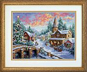 Dimensions Holiday Village Christmas Cross Stitch Kit