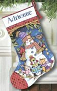 Cute Carolers Stocking - Dimensions Cross Stitch Kit