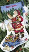 Checking his List Stocking - Dimensions Cross Stitch Kit