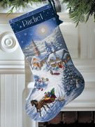Dimensions Sleigh Ride at Dusk Stocking Cross Stitch Kit