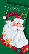 Dimensions Sequinned Santa Stocking Christmas Craft Kit