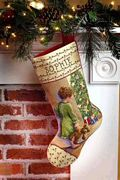 Janlynn Christmas Morning Stocking Cross Stitch Kit
