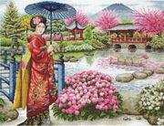 The Japanese Garden - Maia Cross Stitch Kit