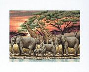 African Sunset - Maia Cross Stitch Kit