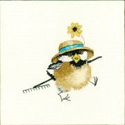 Gardener Chick - Evenweave - Heritage Cross Stitch Kit