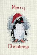 Derwentwater Designs Penguin Christmas Card Making Cross Stitch Kit