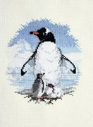 Penguin and Chicks - Derwentwater Designs Cross Stitch Kit