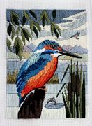 Derwentwater Designs Kingfisher Long Stitch Kit