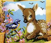Little Deer With Bird - Vervaco Cross Stitch Kit