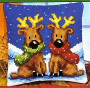 Vervaco Reindeer Twins Christmas Cross Stitch Kit